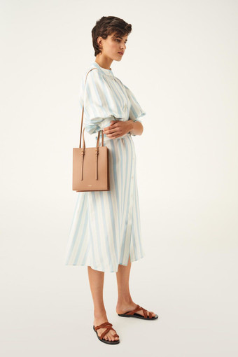 Oroton Alexis Small Tote in Cedar Wood and Smooth Leather for female
