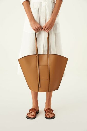 Oroton Aimee Tote in Dark Rye and Smooth Leather for female