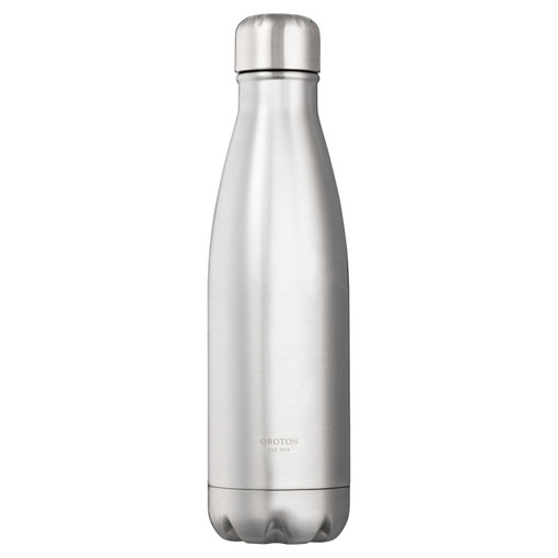 Oroton Margot Water Bottle in Silver and Stainless Steel for female