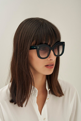Oroton Wyatt Sunglasses in Loden Green and Acetate for female