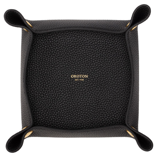 Oroton Jude Medium Organiser in Black and Pebble Leather for female