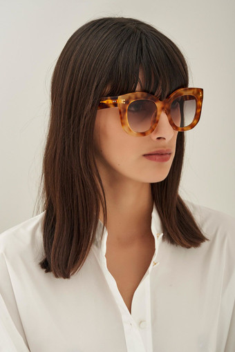 Oroton Wyatt Sunglasses in Vintage Tort and Acetate for female