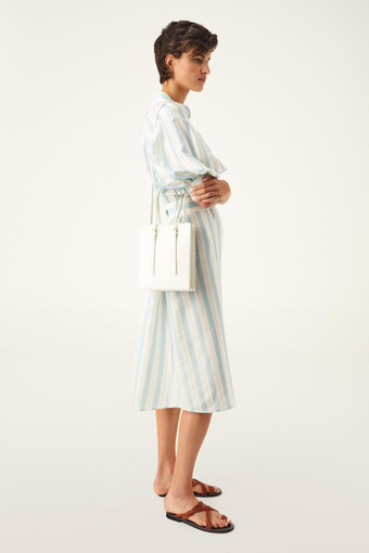 Oroton Alexis Small Tote in Pure White and Smooth Leather for female