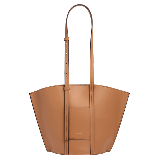 Oroton Aimee Small Tote in Dark Rye and Smooth Leather for female