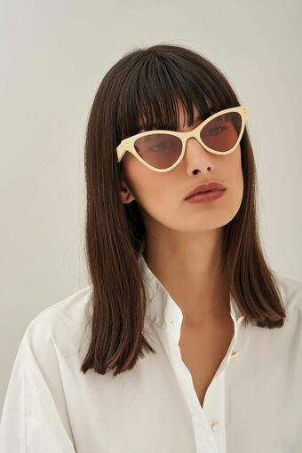 Oroton Parker Sunglasses in Lemon Curd and Acetate for female