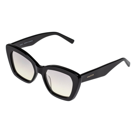 Oroton Naeva Sunglasses in Black and Acetate for female