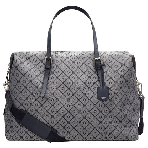 Oroton Elsie Weekender in Indigo/Grey Mist and Elsie Signature Jacquard Fabric/Vachetta Leather for female