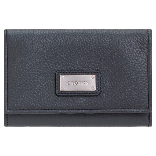 Oroton Kiera Highfold Wallet in Charcoal and Pebble Leather for female