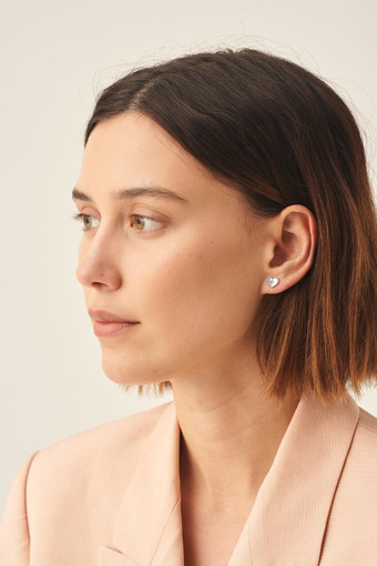 Oroton Lucy Heart Studs in Silver and null for female