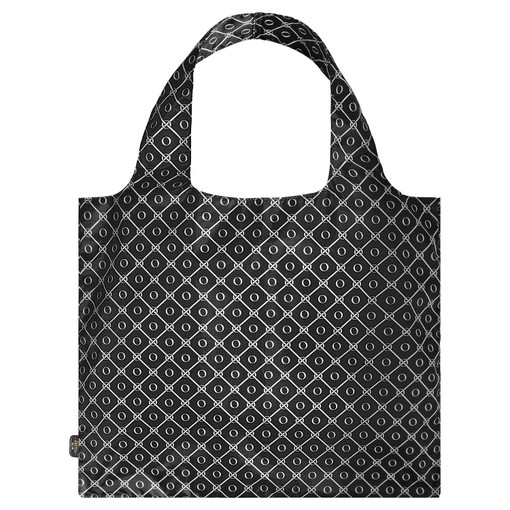 Oroton Elsie Packable Tote in Black/Cream and Printed Nylon Fabric for female