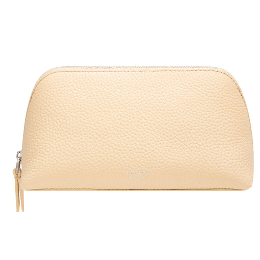 Oroton Anna Medium Beauty Case in Honey and Pebble Leather for female