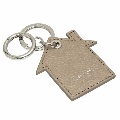 Oroton Lucy House Keyring in Stone and Pebble Leather for female