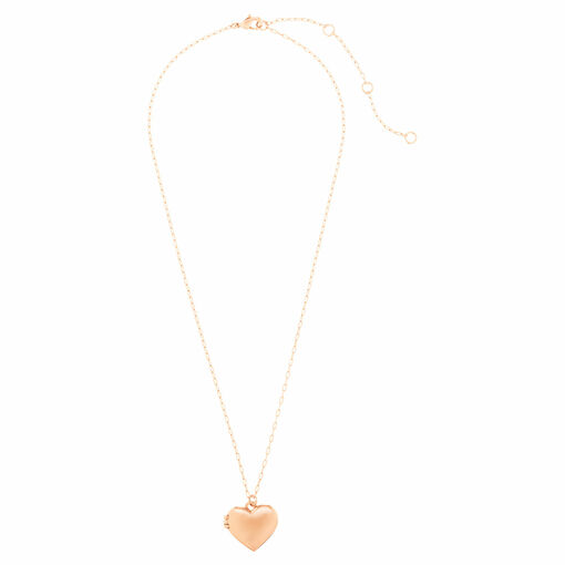 Oroton Lucy Heart Locket Necklace in Rose Gold and null for female