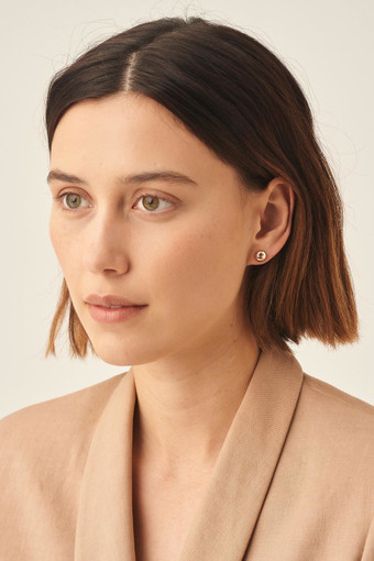 Oroton Icon Oval Stud Set in Gold and null for female
