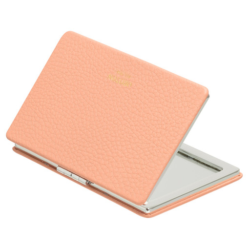 Oroton Lucy Rectangle Mirror in Peach Kiss and Pebble Leather for female