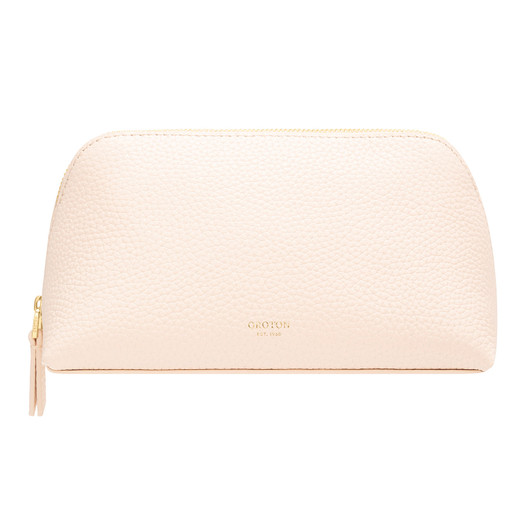 Oroton Anna Medium Beauty Case in Soft Peach and Pebble Leather for female