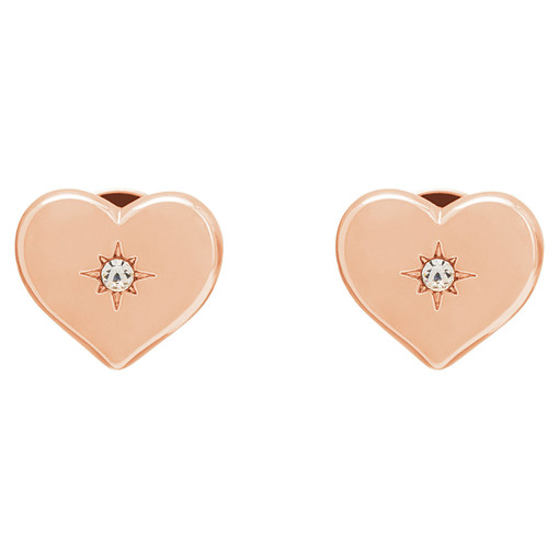 Oroton Lucy Heart Studs in Rose Gold and null for female