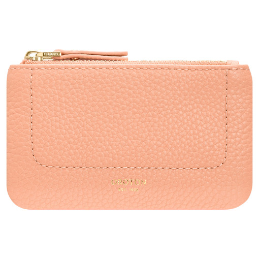 Oroton Lucy Coin Purse in Peach Kiss and Pebble Leather for female