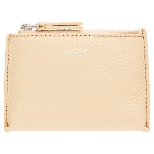 Oroton Anna Coin Pouch in Honey and Pebble Leather for female