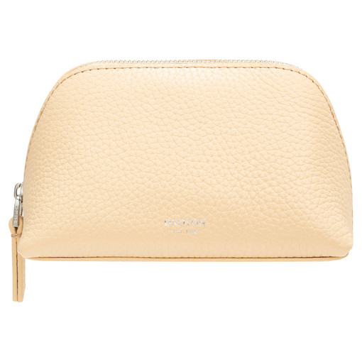 Oroton Anna Small Beauty Case in Honey and Pebble Leather for female