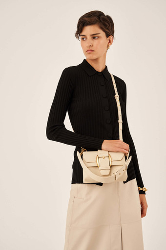 Oroton Frida Luxe Mini Satchel in Wafer and Smooth Leather for female