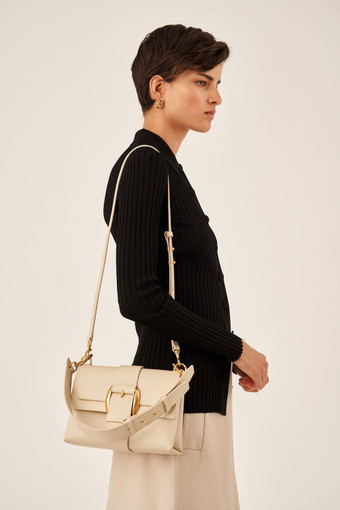 Oroton Frida Luxe Medium Satchel in Wafer and Smooth Leather for female