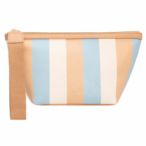 Oroton Fred Medium Beauty Case in Sky Stripe and Coated Canvas/Smooth Leather for female
