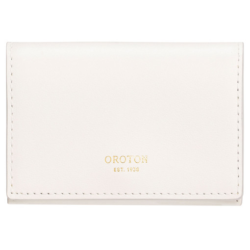 Oroton Alexis Multi Gusset Card Holder in Pure White and Smooth Leather for female