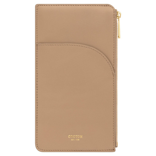 Oroton CHARLIE- PHONE POUCH, KHAKI, O in null and null for null