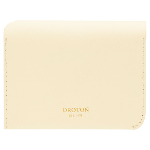 Oroton Charlie 4 Credit Card Holder in Lemon Curd and Smooth Leather for female