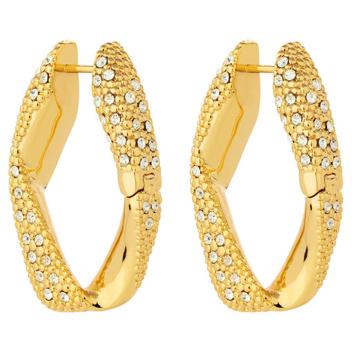 Oroton Aubrey Stone Large Earrings in Gold/Clear and Brass Based Metal With Precious Metal Plating/Crystal for female