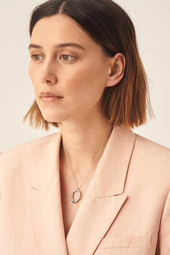 Oroton Ecru Necklace in Silver and Brass Base Metal for female