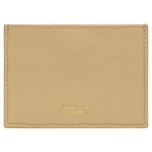 Oroton Alva 3 Credit Card Sleeve in Blonde and Pebble Leather for female