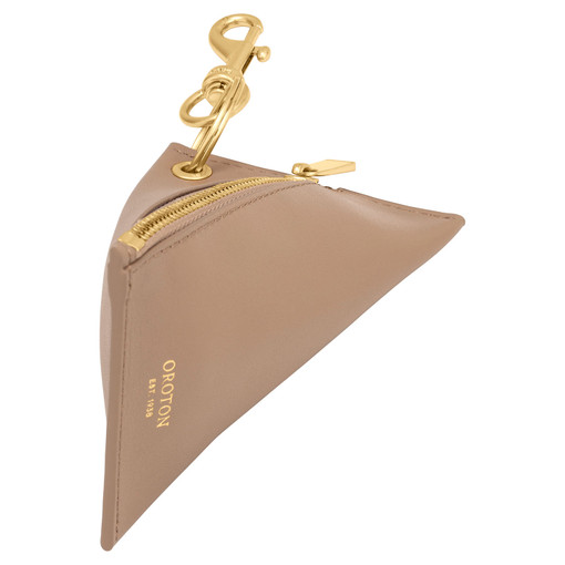 Oroton Aspen Coin Pouch in Khaki and Smooth Leather for female
