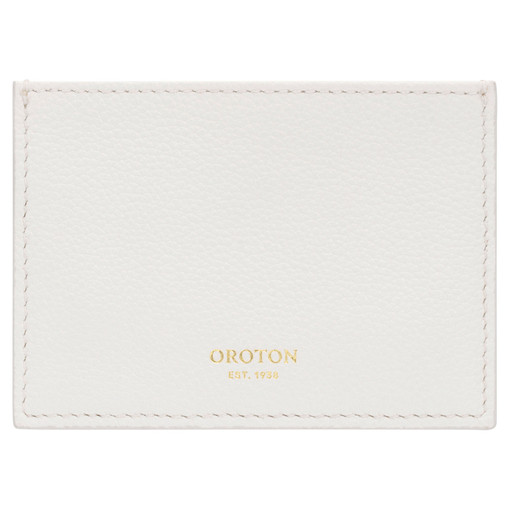 Oroton Alva 3 Credit Card Sleeve in Paper White and Pebble Leather for female
