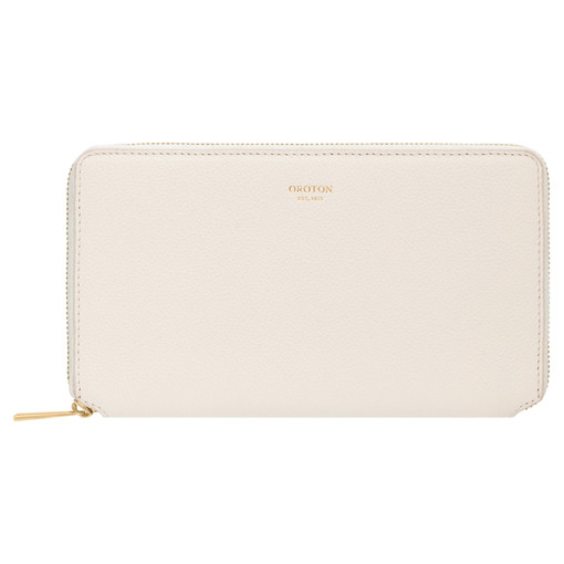 Oroton Alva Book Wallet in Paper White and Pebble Leather for female