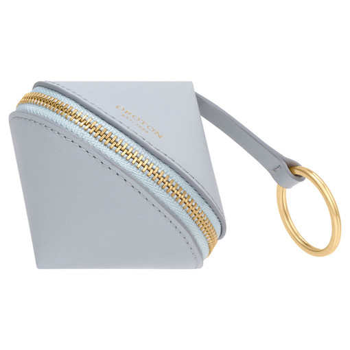Oroton Charlie Diamond Keyring in Dusk Blue and Smooth Leather for female