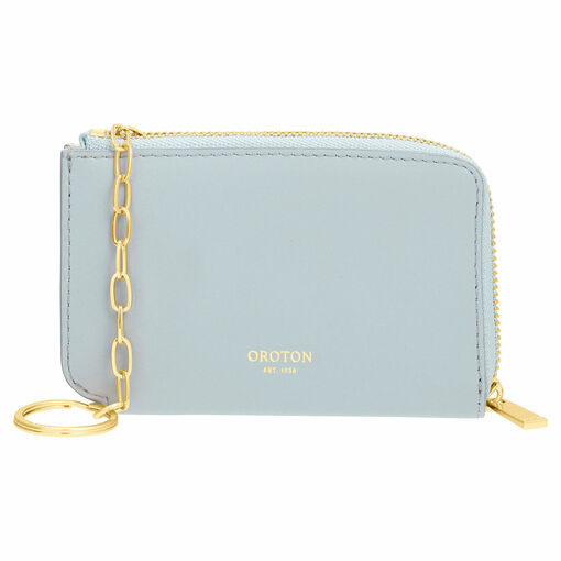 Oroton Charlie Key Holder in Dusk Blue and Smooth Leather for female