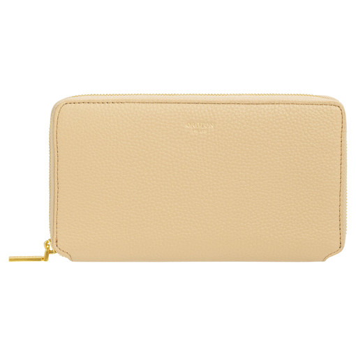 Oroton Duo Book Wallet in Blonde and Pebble Leather for female