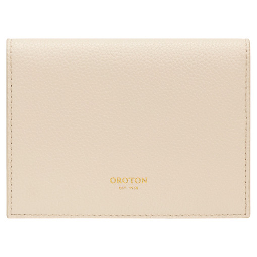 Oroton Frida Soft Small Fold Wallet in Bone and Pebble Leather for female