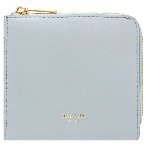 Oroton Charlie Side Zip Wallet in Dusk Blue and Smooth Leather for female