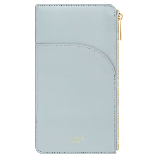 Oroton Charlie Phone Pouch in Dusk Blue and Smooth Leather for female