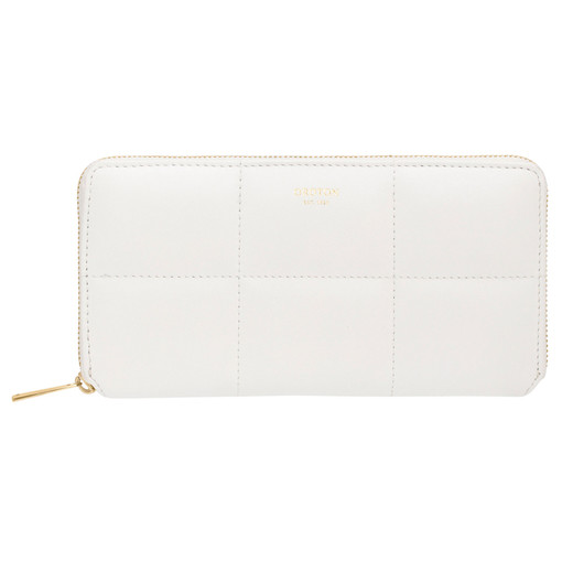 Oroton Freja Medium Zip Wallet in Pure White and Smooth Leather for female