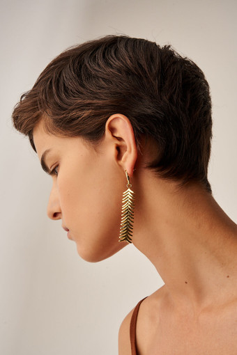Oroton Jolie Drop Earrings in Gold and Brass Base Metal With Precious Metal Plating for female