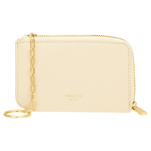 Oroton Charlie Key Holder in Vanilla and Smooth Leather for female