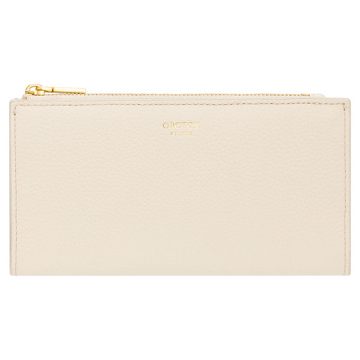 Oroton Malin Slim Zip Wallet in Vanilla and Pebble Leather for female