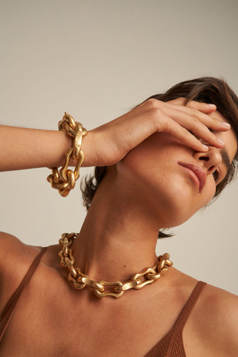 Oroton Eloise Necklace in Worn Gold and Brass Base Metal With Worn Gold Finish for female