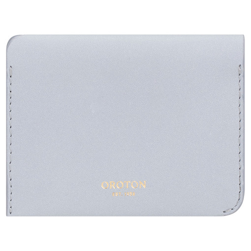 Oroton Charlie 4 Credit Card Holder in Dusk Blue and Smooth Leather for female