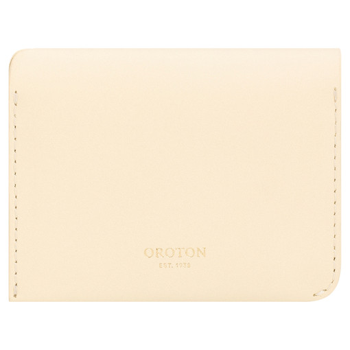 Oroton Charlie 4 Credit Card Holder in Vanilla and Smooth Leather for female