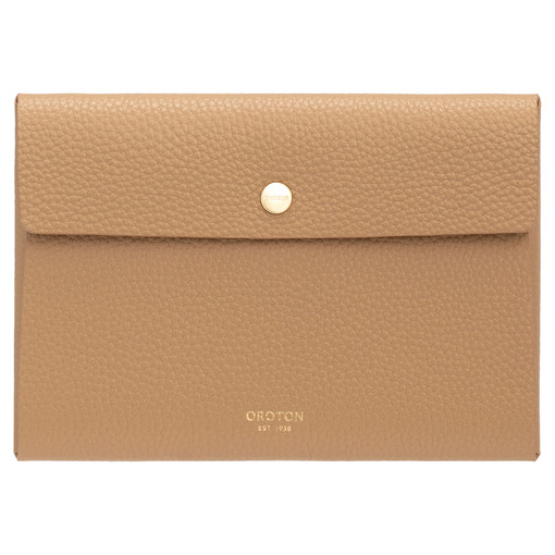 Oroton Margot Small Pouch in Sahara and Pebble Leather for female